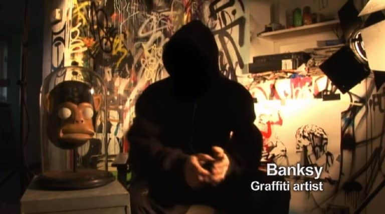 graffiti artist banksy by exit through the gift shop
