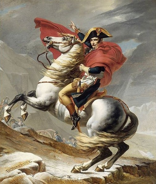 Napoleon Crossing the Alps by Jack Louis David, 1801