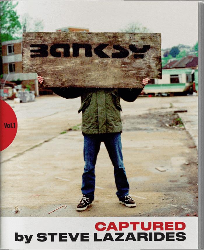 シティーブ・ラザリディスによるバンクシーの写真「Banksy Captured  by STEVE LAZARIDES」