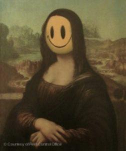 banksy louvre mona lisa smile