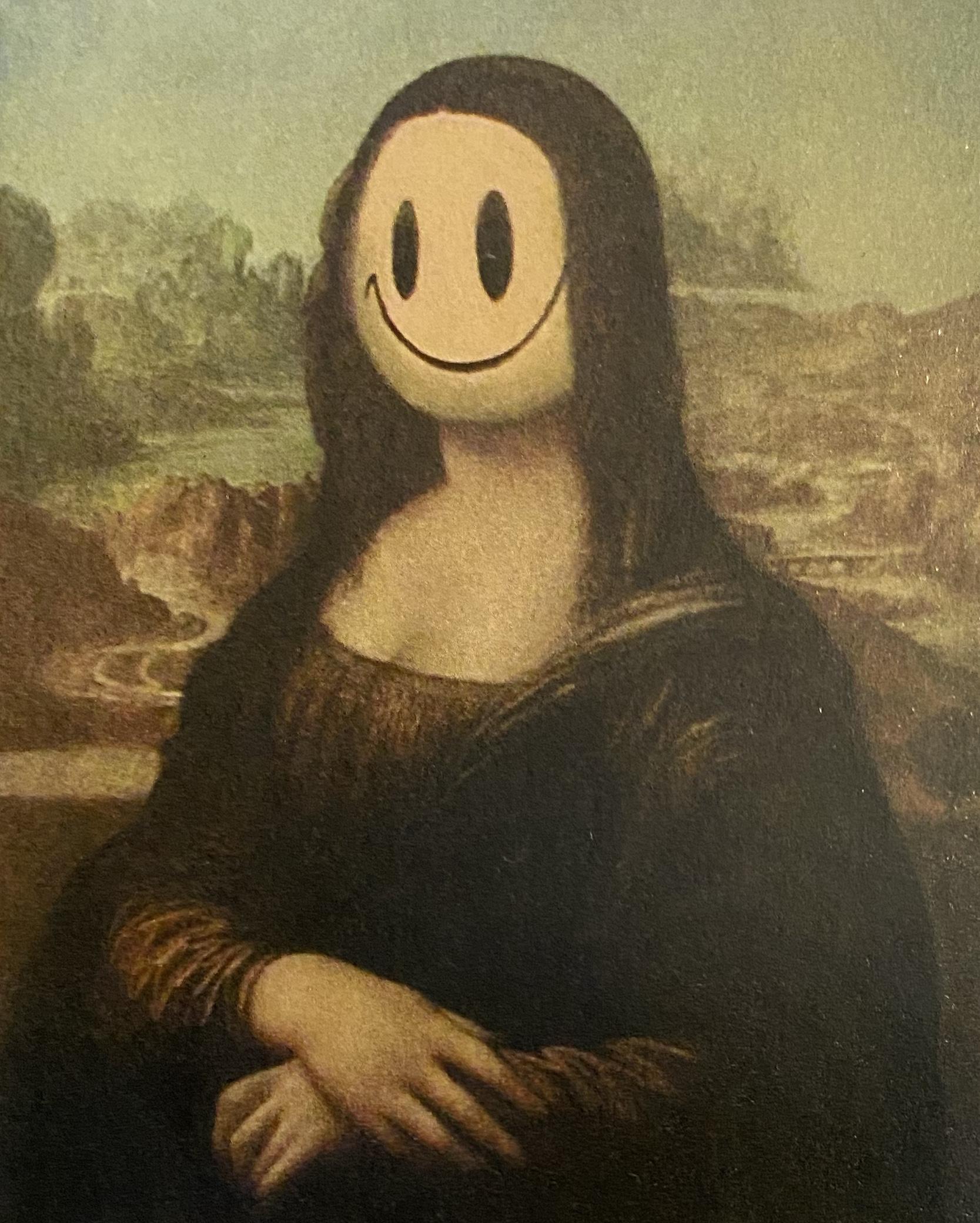 Banksy 2004 Mona Lisa Smile at Louvre Museum in Paris