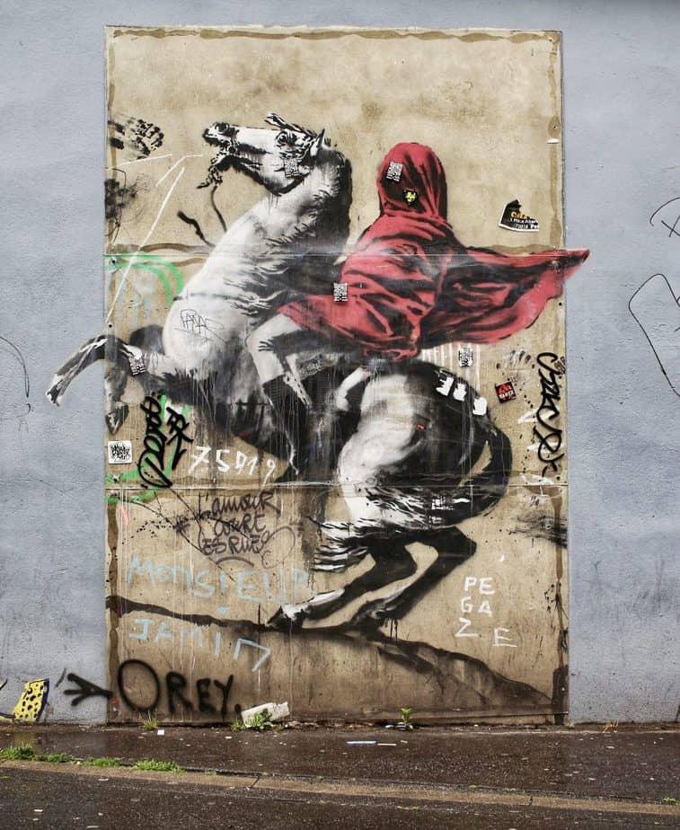 """Banksy Paris """"Napoleon Crossing the Alps"""""""