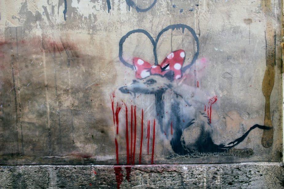 パリのバンクシー 《ネズミと五月革命》 -  Maubert-Mutualité