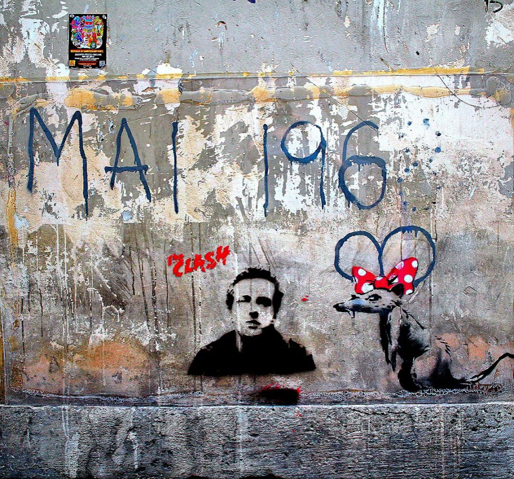 "Banksy ""Rat with MAI 1968"" unofficial"