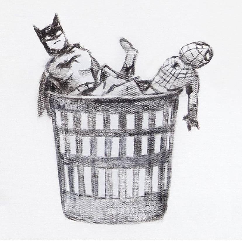 【バンクシーのゲームチェンジャー】バッドマンとスパイダーマン